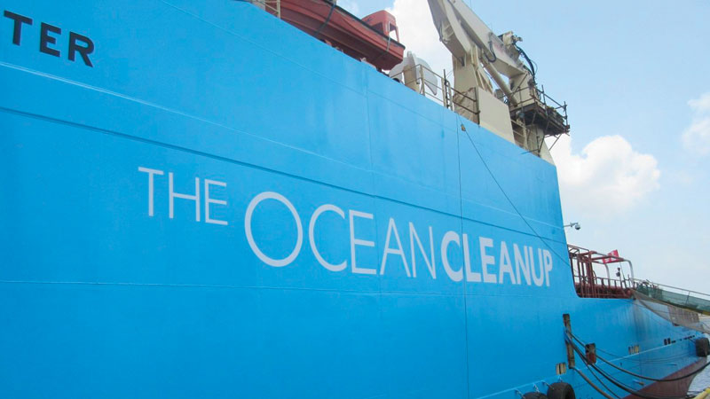 The Ocean Cleanup and Maersk working together